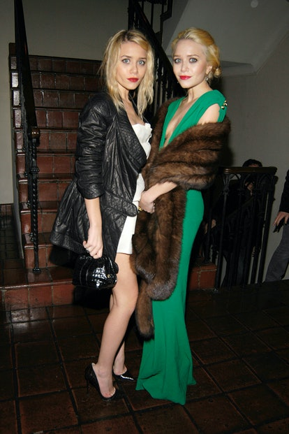 Ashley Olsen and Mary-Kate Olsen attend HBO's Annual PRE-GOLDEN GLOBE Reception at Chateau Marmont o...