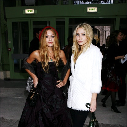 Mary Kate And Ashley Olsen attend the Dior Ready To Wear Spring-Summer 2007 Fashion Show in Paris, France.