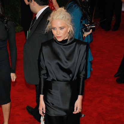 """Mary-Kate Olsen attends the """"Schiaparelli And Prada: Impossible Conversations"""" Costume Institute Gala at the Metropolitan Museum of Art on May 7, 2012 in New York City."""