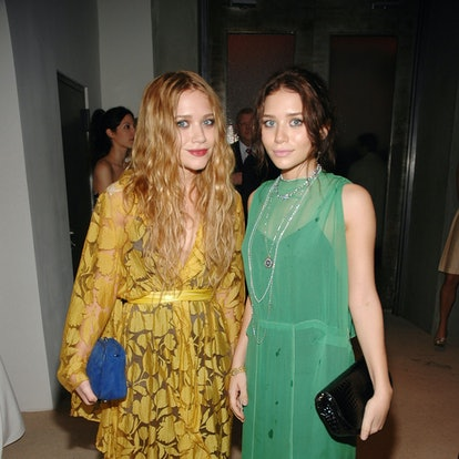 Mary-Kate Olsen and Ashley Olsen at the Skylight Studios in New York City, New York.