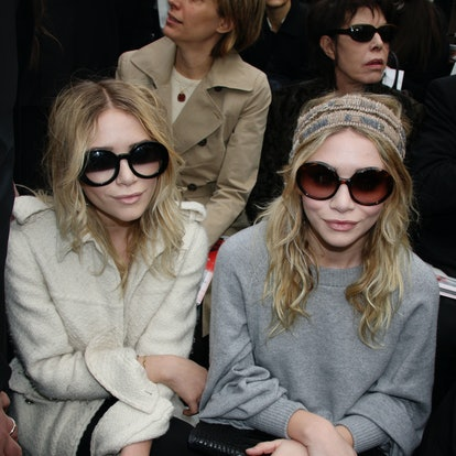 """Mary-Kate Olsen and Ashley Olsen at the """"Chanel"""" fall/winter 2008-2009 fashion show in Paris."""