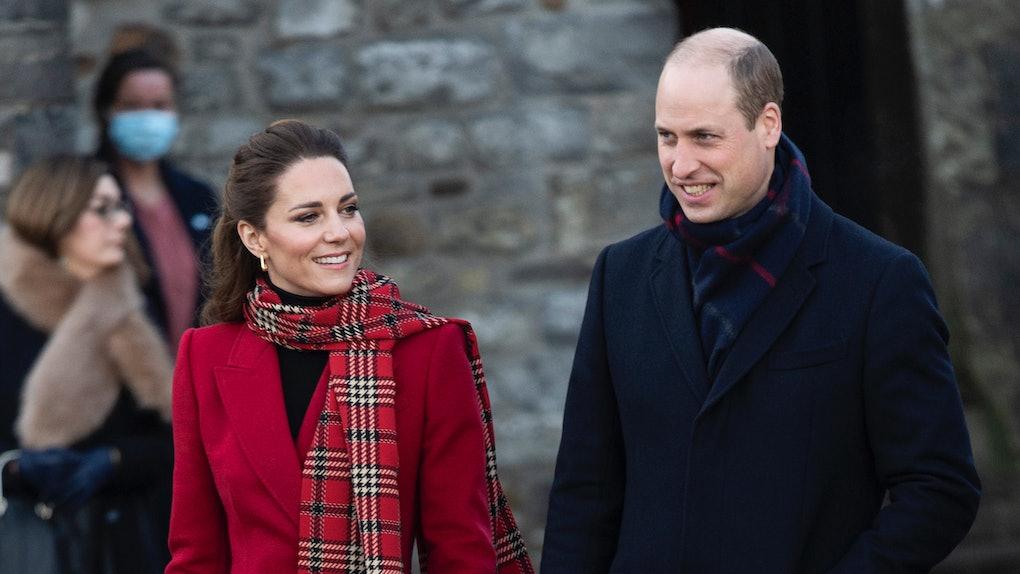 Kate Middleton and Prince William take a walk.
