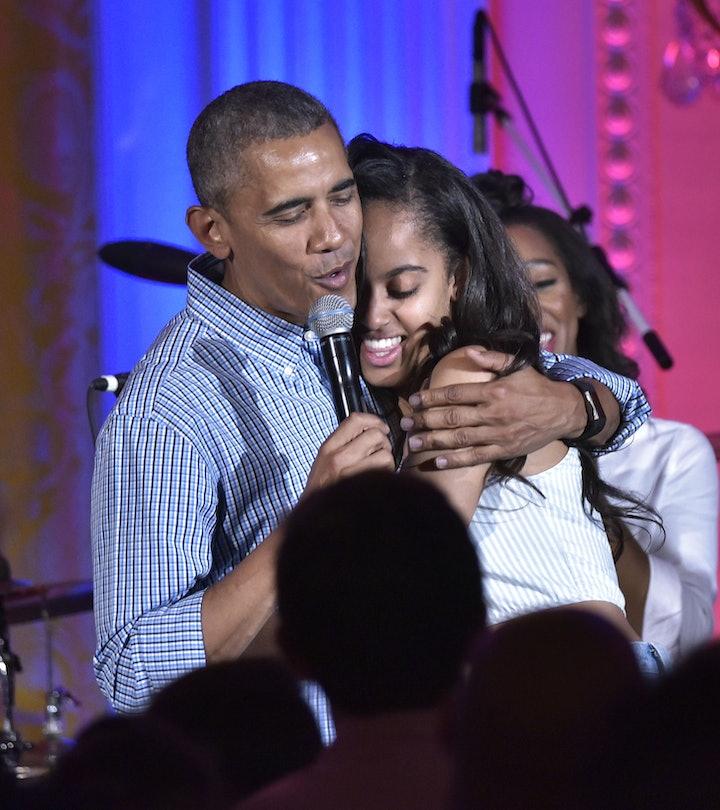 barack obama and daughter malia
