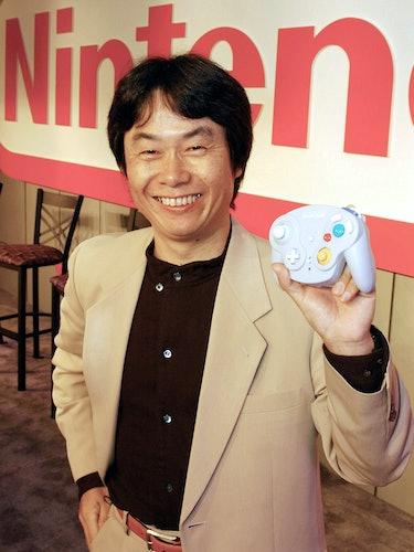 A photo of Shigeru Miyamoto.