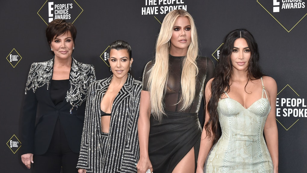 The Kardashian family attends the People's Choice Awards.
