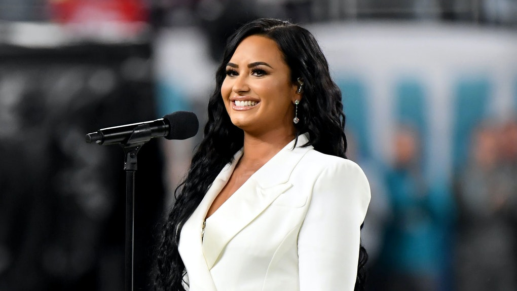 Demi Lovato at a 2020 performance.