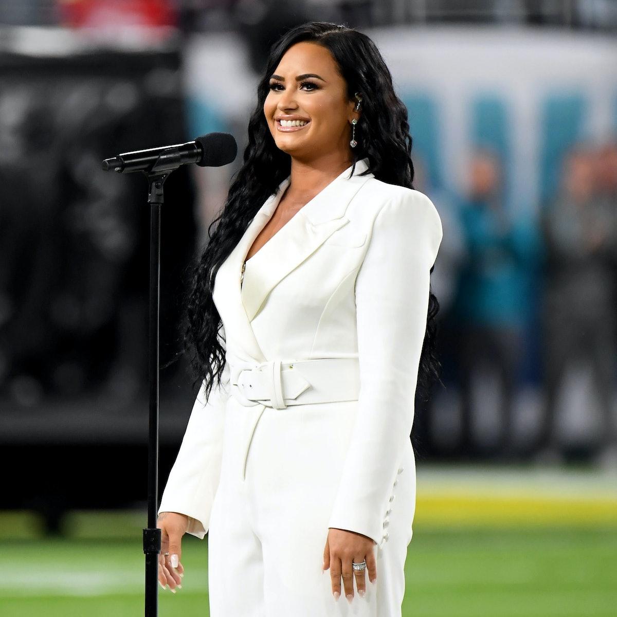 Demi Lovato at a 2020 performance.