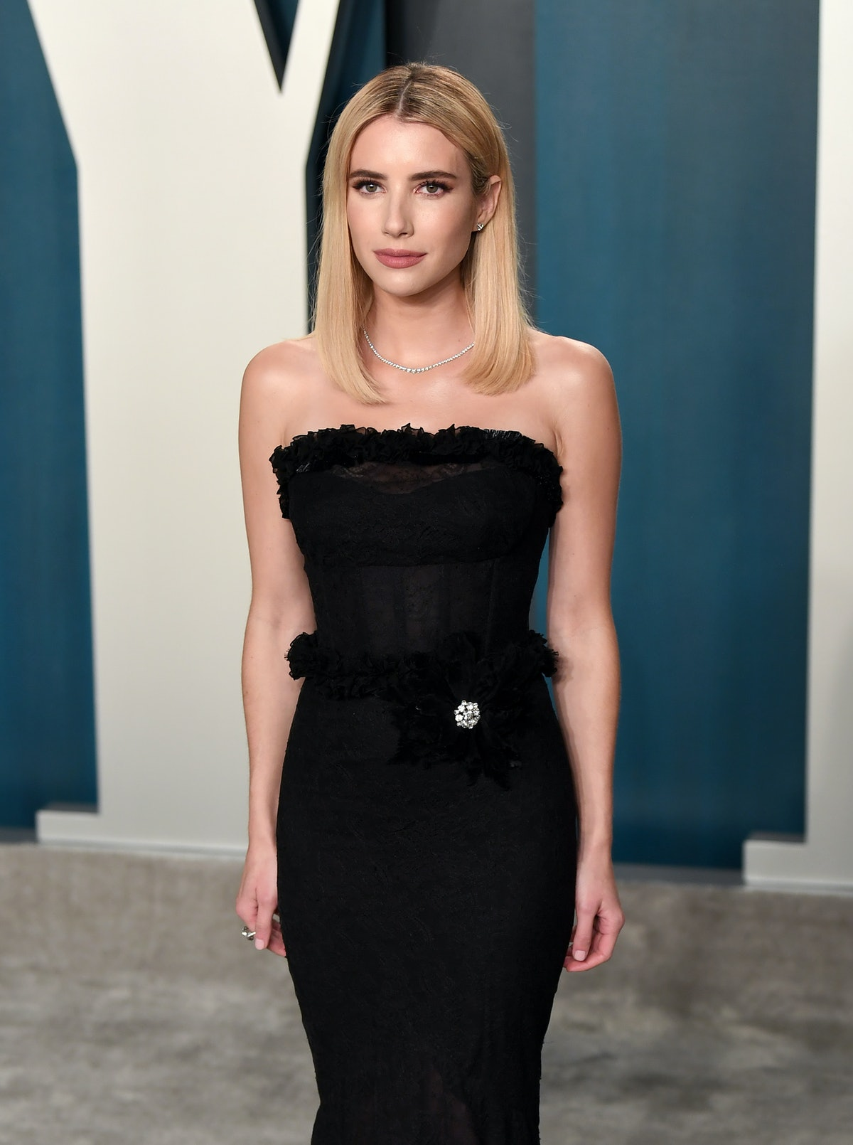 Emma Roberts attends the Vanity Fair Oscars party.