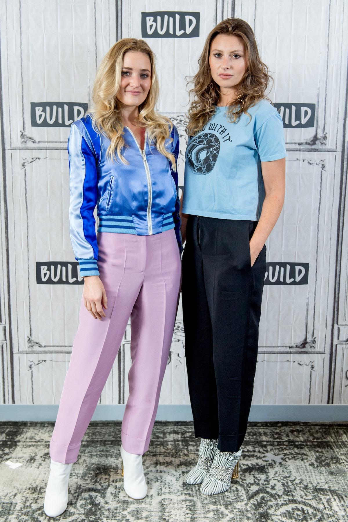 Aly & AJ attend AOL's Build series.