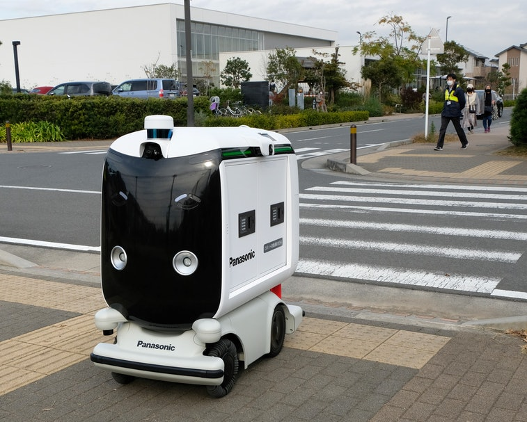 Panasonic is testing delivery robots in Japan.