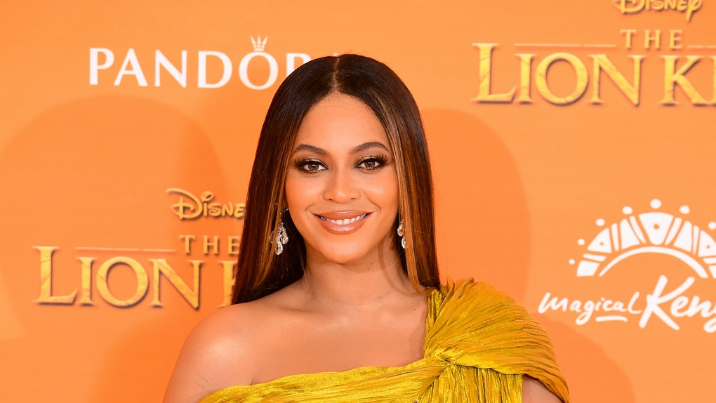 Beyonce attends 'The Lion King' premiere.