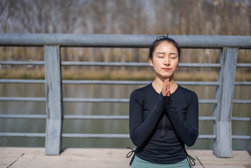 meditate, working out