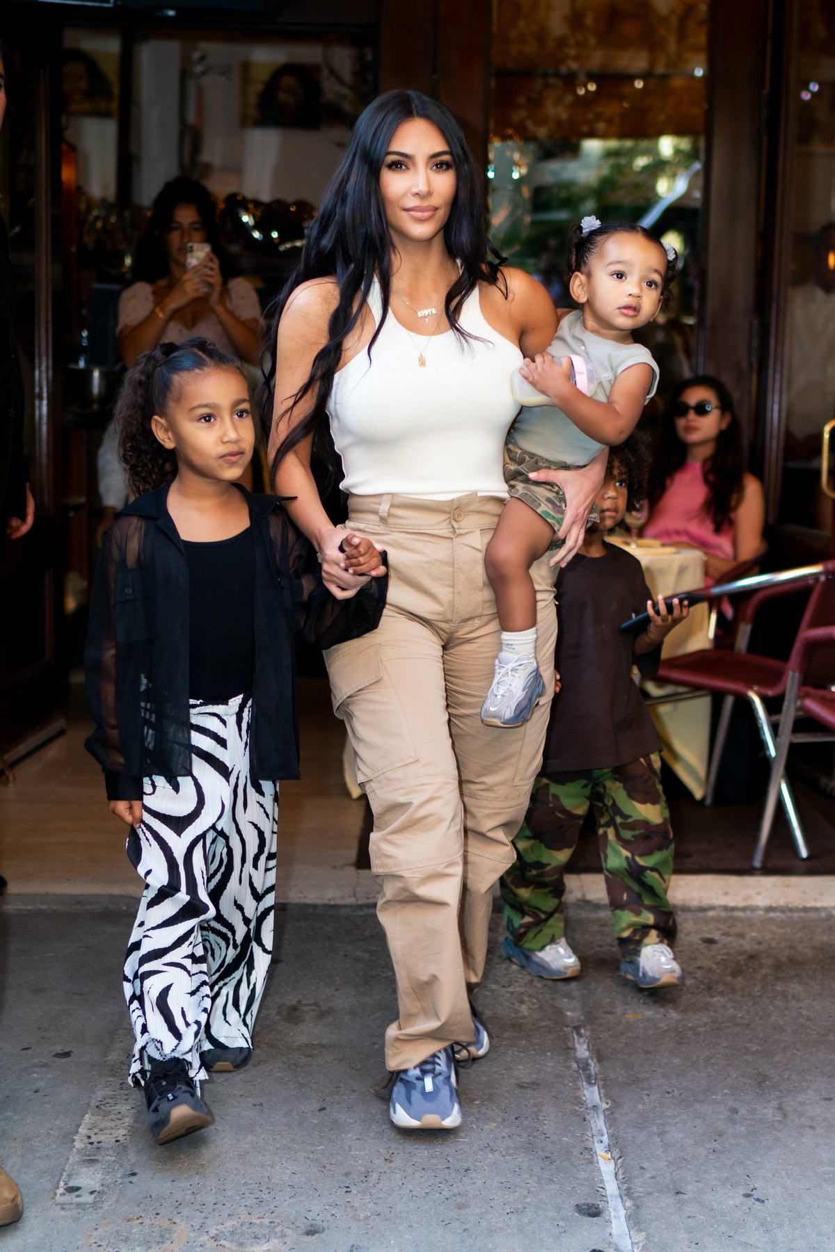 Kim Kardashian West posed with her son Saint West on his fifth birthday.