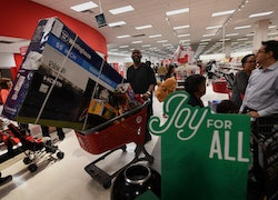 target during the holidays
