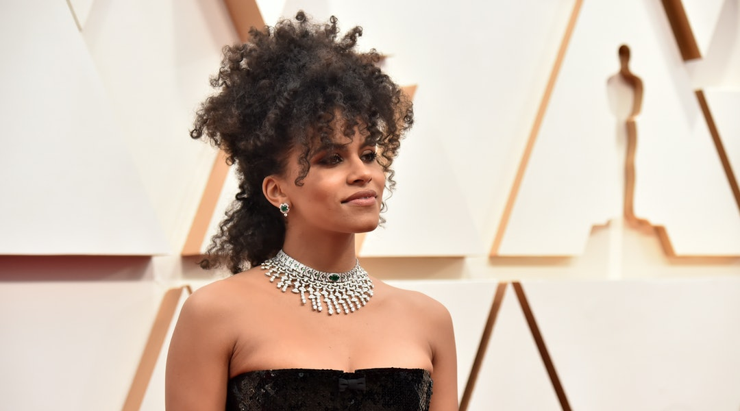 Zazie Beetz's hairstyle at the 2020 Oscars.
