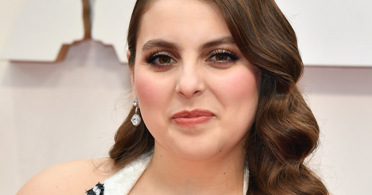Beanie Feldstein Is The Next Celeb To Wear This Major Dress Trend With Her Oscars Gown