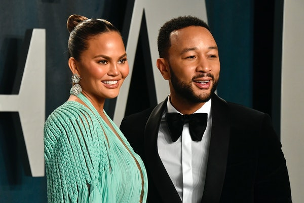 Chrissy Teigen and John Legend at the Oscars.