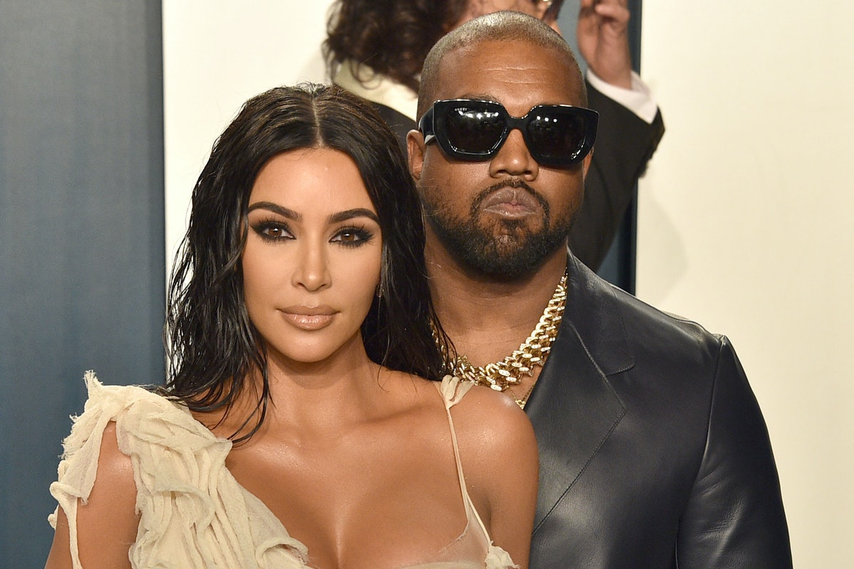 Kim Kardashian and Kanye West attend the 2020 Oscar Awards.