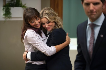 One way to celebrate Galentine's Day is to have a 'Parks & Rec' marathon with your friends.