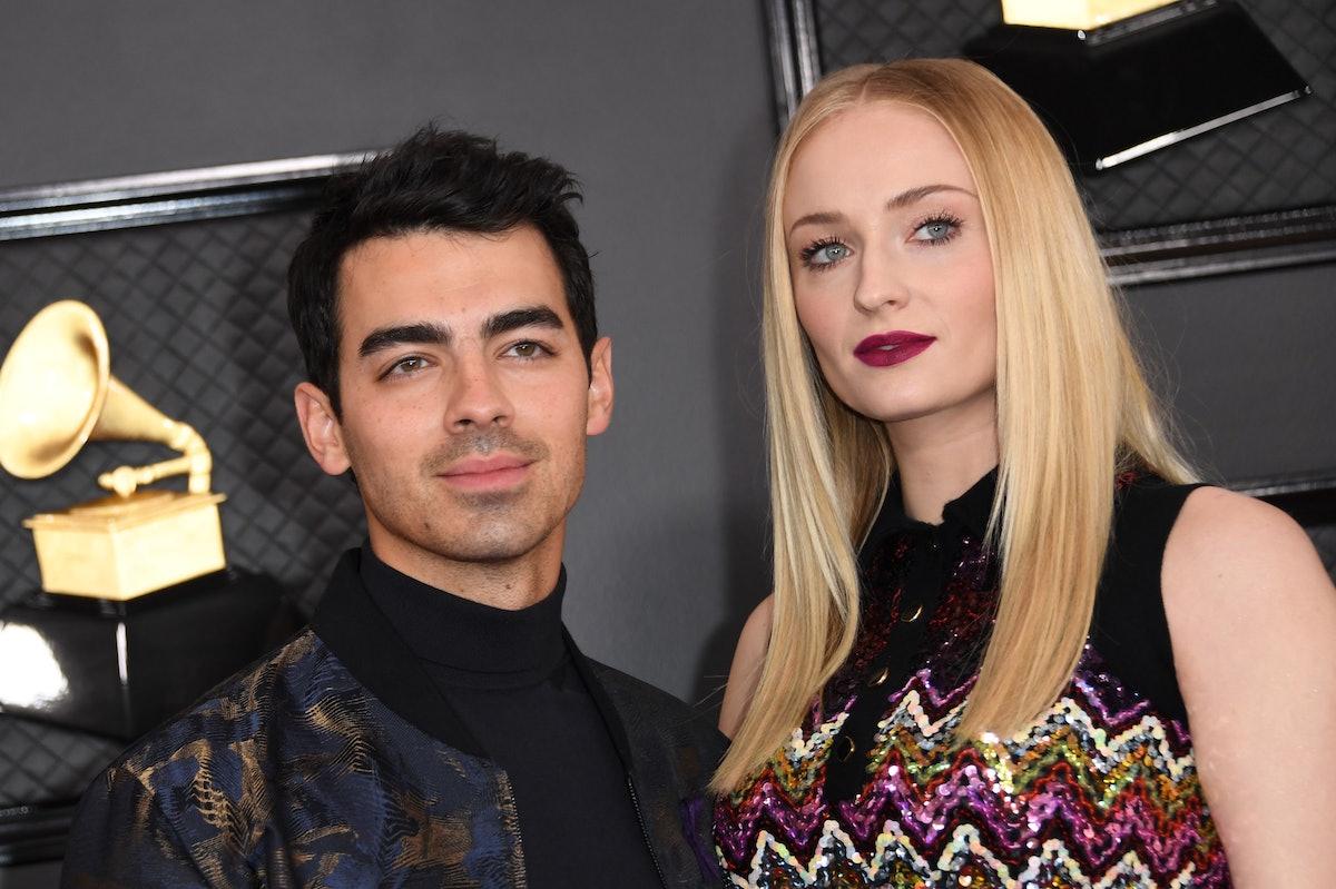 Joe Jonas and Sophie Turner attend the 2020 Grammy Awards.