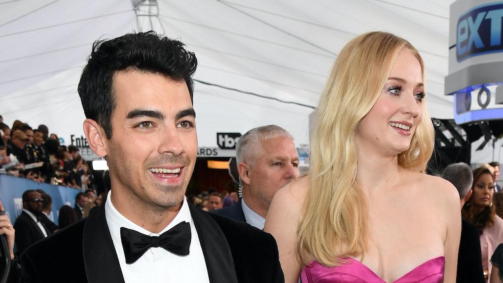 Joe Jonas and Sophie Turner attend the 2020 SAG Awards.