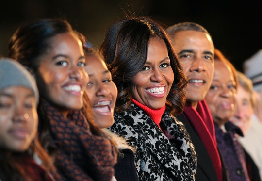michelle Obama, barack Obama, sasha and malia