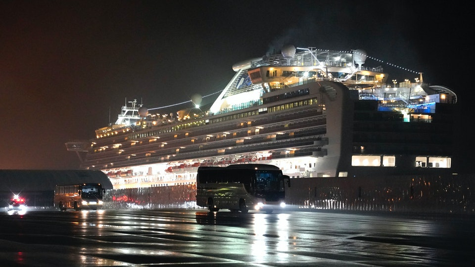 More than a dozen Americans tested positive for coronavirus after being evacuated to the United States from a cruise ship quarantined in Japan.