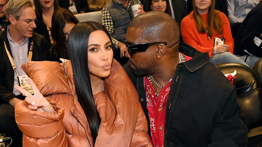 Kim Kardashian and Kanye West had an awkward kiss cam moment
