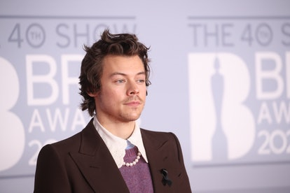 Harry Styles' hair at the 2020 Brit Awards was perfectly messy.