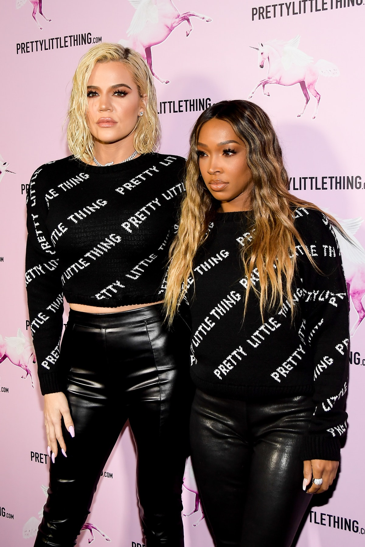 Khloe Kardashian and Malika Haqq attend a launch event for Pretty Little Thing.