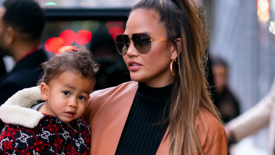 Chrissy Teigen's 21-month-old son Miles has the cool style of a teenager.