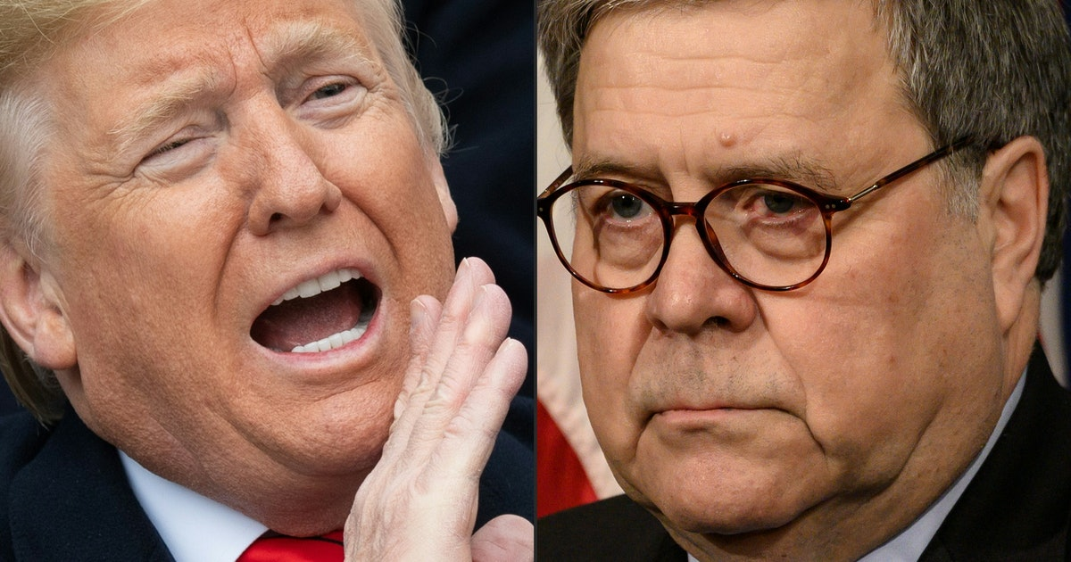 Donald Trump & William Barr's Feud Is Escalating Quickly