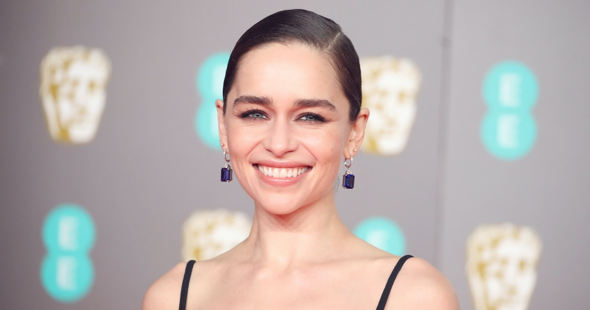 Emilia Clarke's Dress At The 2020 BAFTAs Was Styled So Differently On The Runway