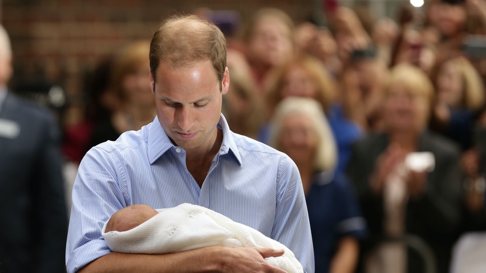 Kate Middleton says Prince William had a joyful moment the first time he saw his baby boy George.
