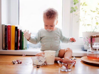 baby making a mess