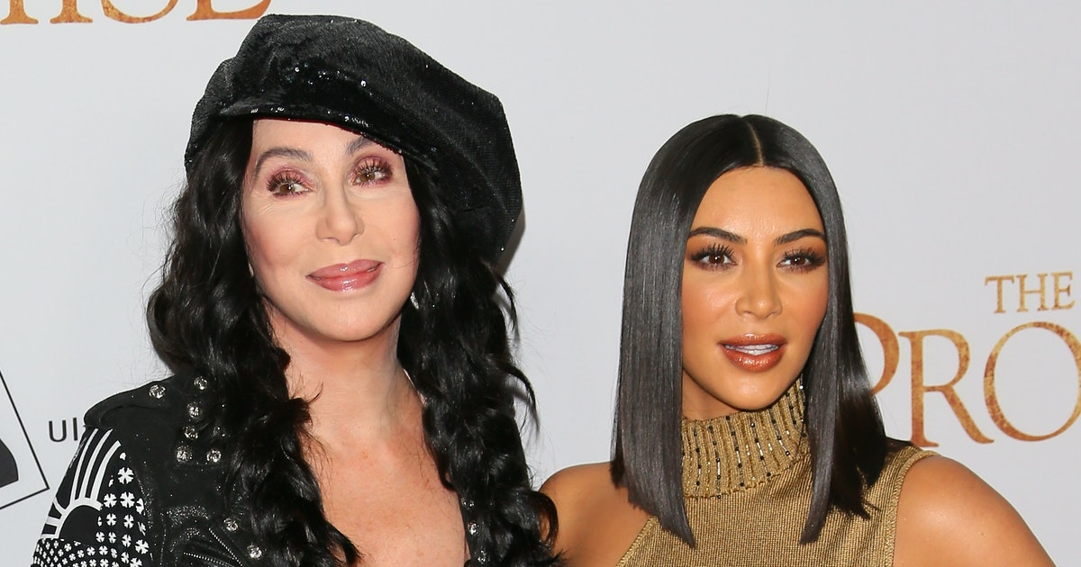 Kim Kardashian & Cher Look Unrecognizable With Their Matching '60s Hairstyles