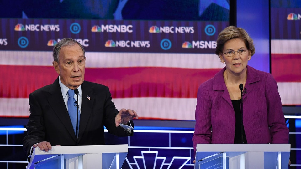 Sen. Warren answered questions about her comments against Mike Bloomberg's alleged pregnancy discrimination.