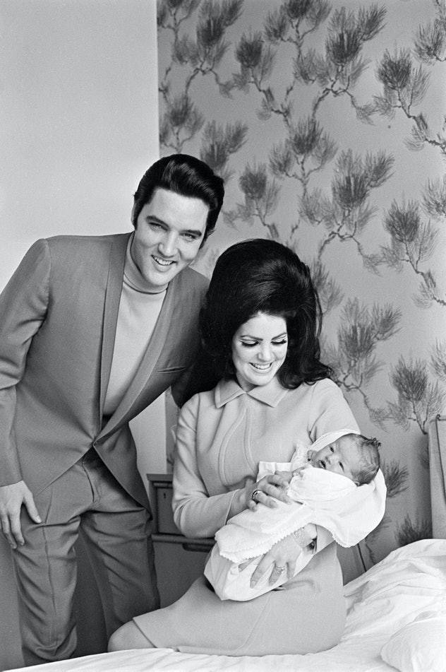 It brings me great comfort to know that in 1968, even Priscilla Presley wanted to look beautiful holding her newborn daughter.
