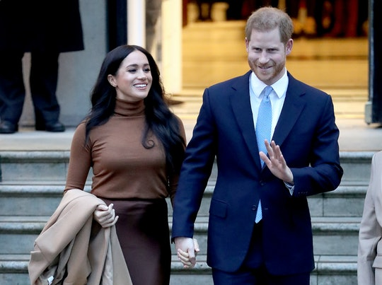 Some royal fans think Prince Harry and Meghan Markle stepping back from the royal family is an April...