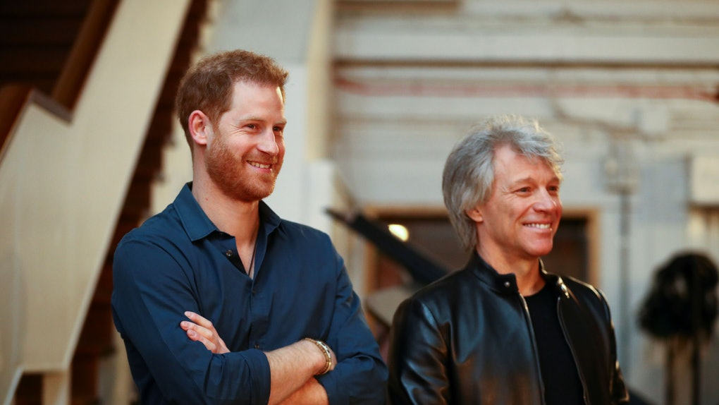 Will Prince Harry Sing A Song With Bon Jovi? The Two Stars Met At Abbey Road Studios.