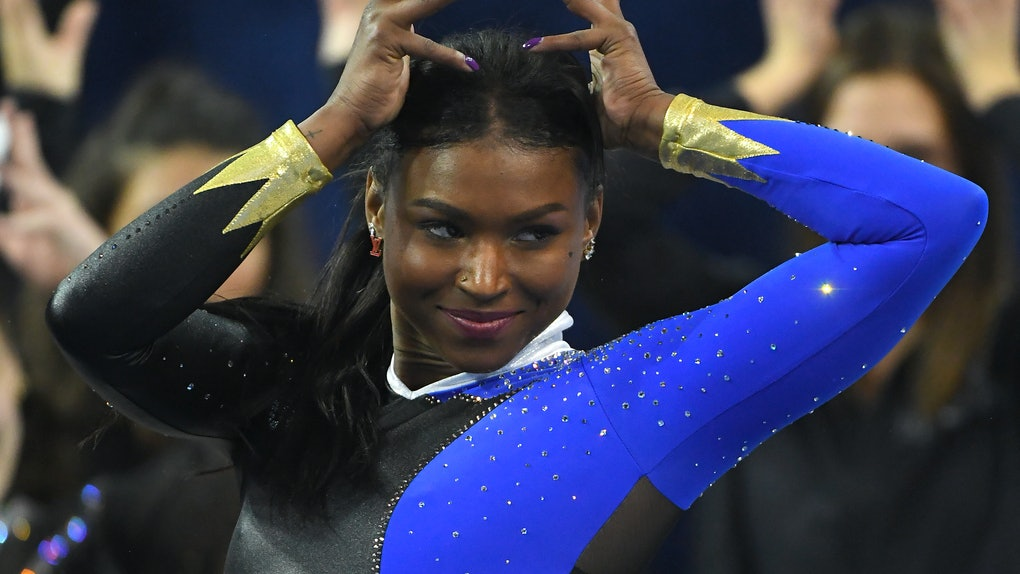Twitter is going wild over this gymnast's floor routine, because she did an epic ode to Beyoncé.