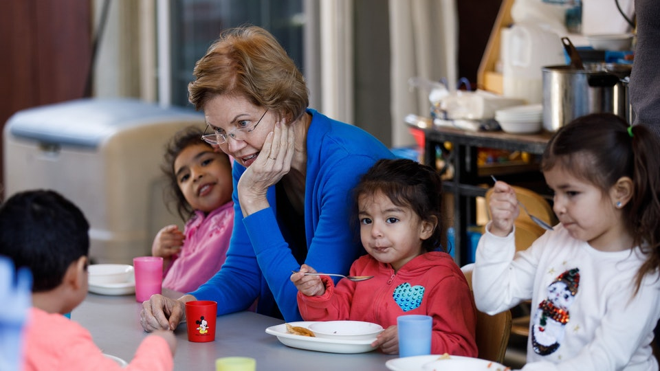 Elizabeth Warren's campaign is offering free child care to some caucusgoers in Iowa.