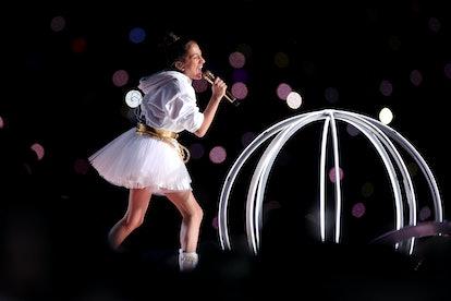 Emme Muñiz performed at the Super Bowl with her mom Jennifer Lopez