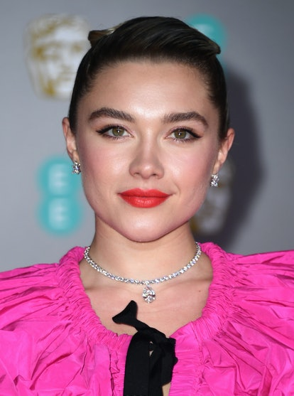 Florence Pugh and other celebrities wore coral lipstick to the 2020 BAFTAs