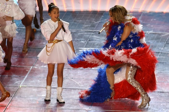 Jennifer Lopez and her daughter Emme performed at the Super Bowl with her and it was a sight to behold.