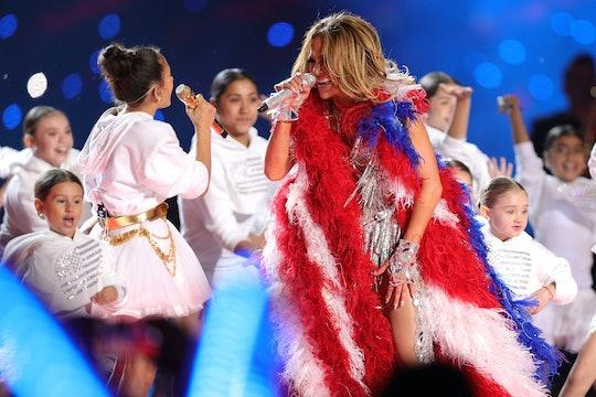 Jennifer Lopez and her daughter Emme Muñiz performed together in the Super Bowl Halftime Show