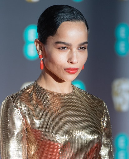 Zoe Kravitz and other celebrities wore coral lipstick to the 2020 BAFTAs
