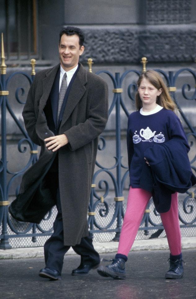 Tom Hanks was annoying his daughter Elizabeth back in 2001.