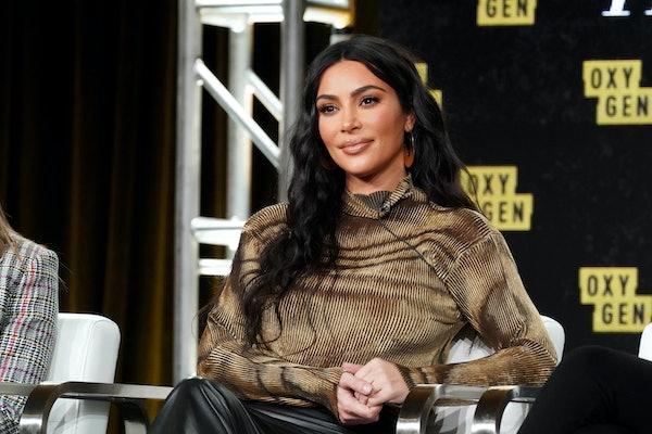 Kim Kardashian attends an event for Oxygen.