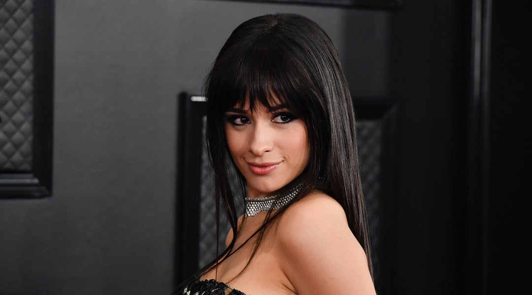 Camila Cabello's short bob stands out from her regularly long hair.